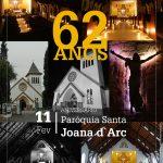 Paróquia completa 62 anos de sua fundação