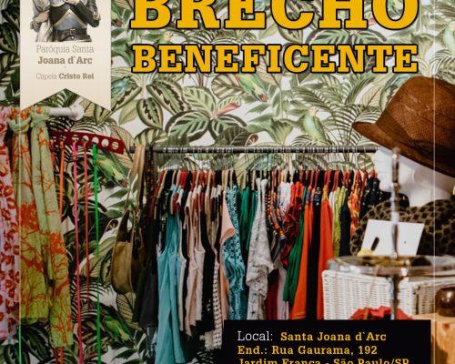 CANCELADO - Brechó beneficente - 29 de março
