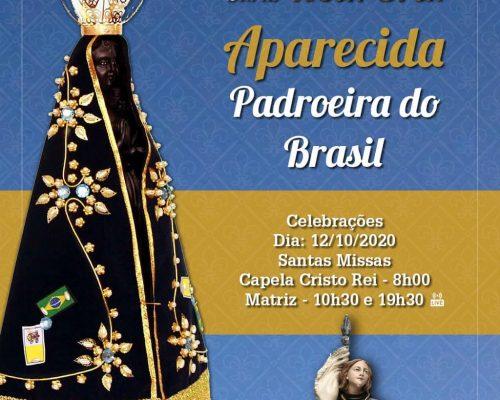 Santa Missas no dia de NSra. Aparecida, padroeira do Brasil